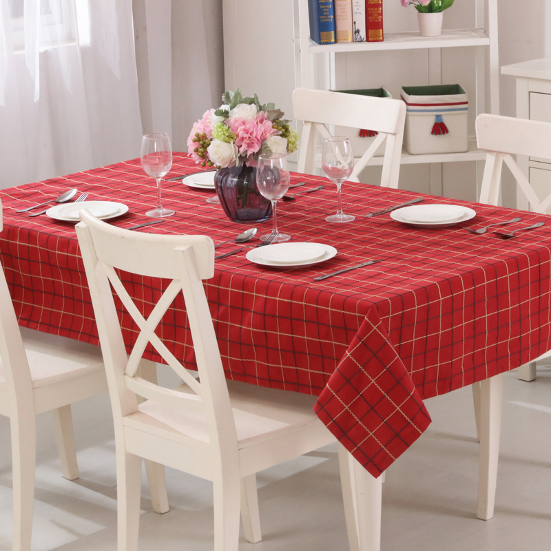 Red Table Covers Comfortable Linen Fabric Appropriate For Dining Room  Rectangle Tablecloth Suitable For All Seasons