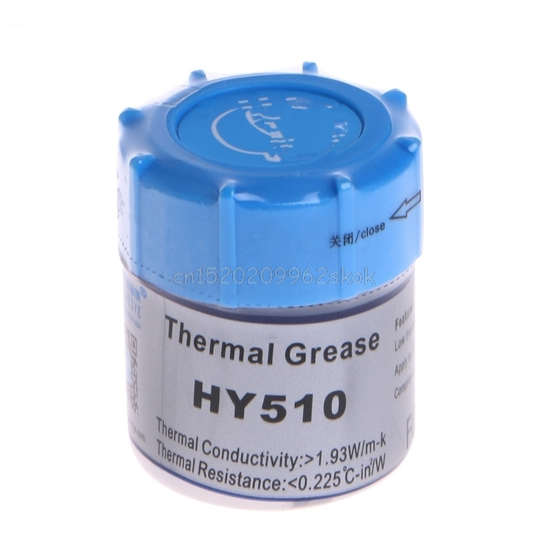 HeatSink Cooling 10G HY510 Thermal Grease Compound Silicone CPU Heat Sink Cooling Paste Gray JUN15 dropshipping 30g thermal grease paste compound silicone for cpu heatsink heat sink free shipping