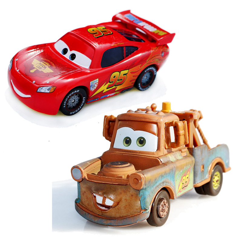 Disney Pixar Cars Lightning McQueen Mater 1:55 Diecast Metal Alloy Toys Baby Boys Girls Kids Toys for Birthday Christmas Party