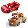 Disney pixar cars relâmpago mcqueen e mater 1:55 diecast metal liga toys bebê meninos meninas crianças toys para festa de natal aniversário