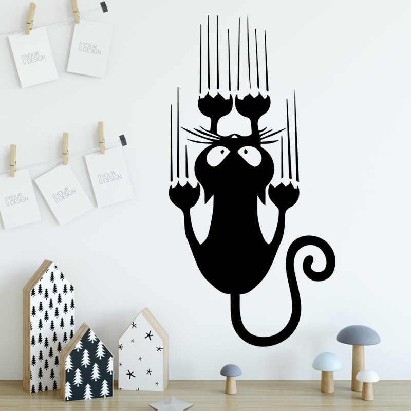Cartoon Style Cat Vinyl Wall Stickers