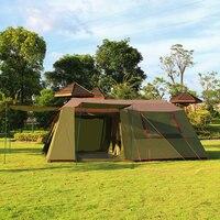 Alltel один зал с двумя Спальня сверхбольших двойной Слои 8 12 человек Водонепроницаемый ветрозащитный палатка