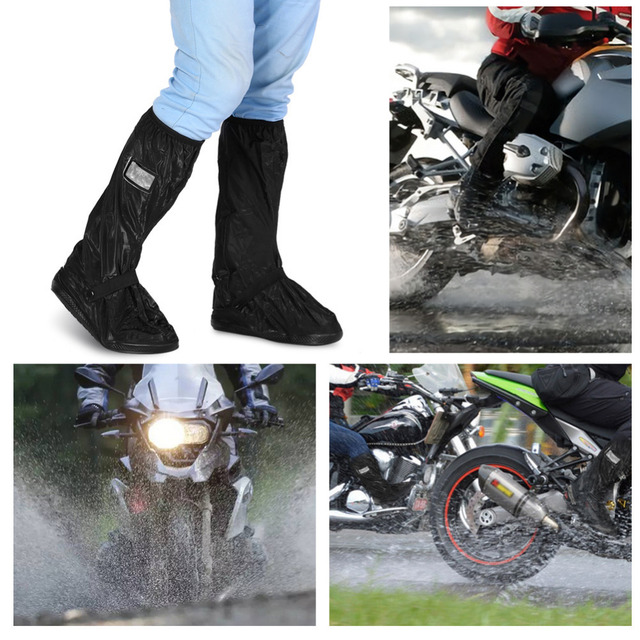 Waterproof Rain Shoes Cover for Rainy Snowy Day Non-Slip Boots Covers Thicken Autobike Reusable Overshoes for Motorcycle Scooter