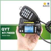 KT-7900D 25 W Quad radio 144/220/350/440 MHZ Walkie Talkie Radio de coche con Cable