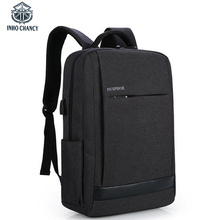 INHO CHANCY USB Sharging Men Backpack Large Capacity Can Put 15 6 inch Laptop Man Waterproof