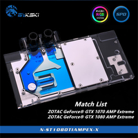 Bykski Full Coverage GPU Water Block For ZOTAC GeForce GTX 1070 1080 Ti AMP Extreme Graphics Card N ST1080TIAMPEX X