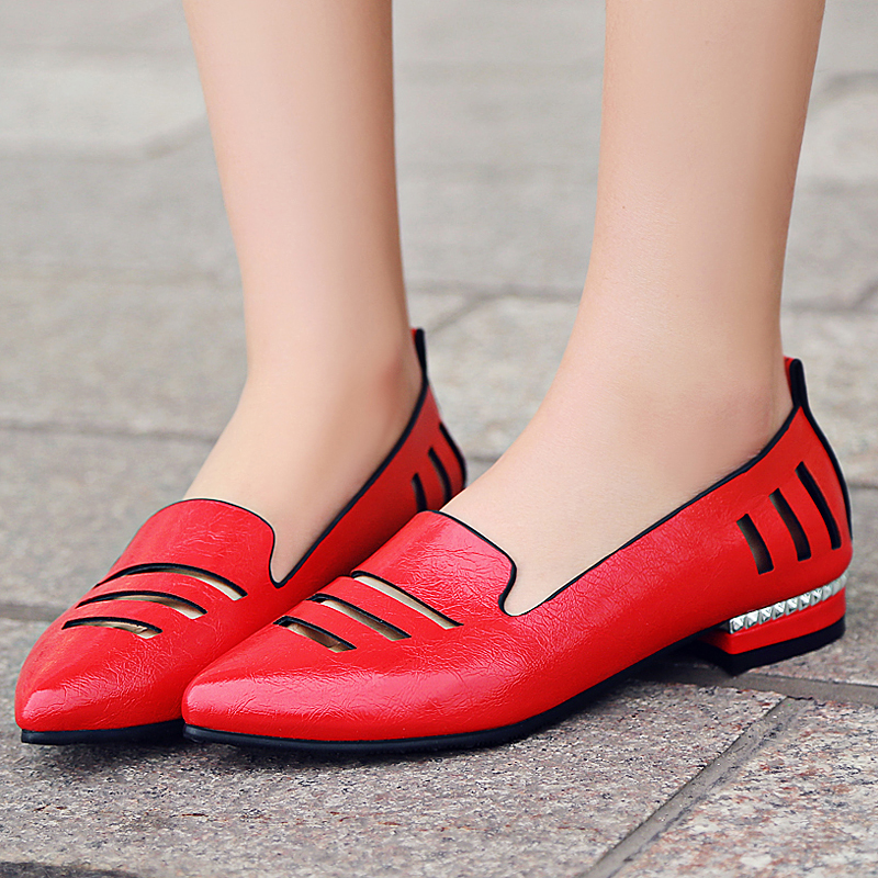 2017 Plus big size 31-48 Casual Lace Up Thick MID Heel Shoes Fashion Patent Leather Woman Pumps Heels Spring Autumn shoes C810 big size eur 34 50 thick heels round toe single shoes spring autumn high heel women shoes fashion pumps lace up low shoes ox119