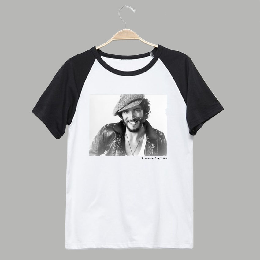 Lucky town down town train folk rock song writer rock star bruce springsteen unisex size t shirt