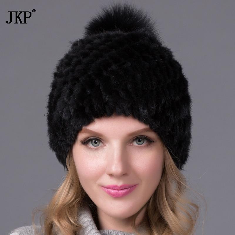 Hot prodej skutečné norky kožešinové čepice pro zimní dámské - Příslušenství pro oděvy