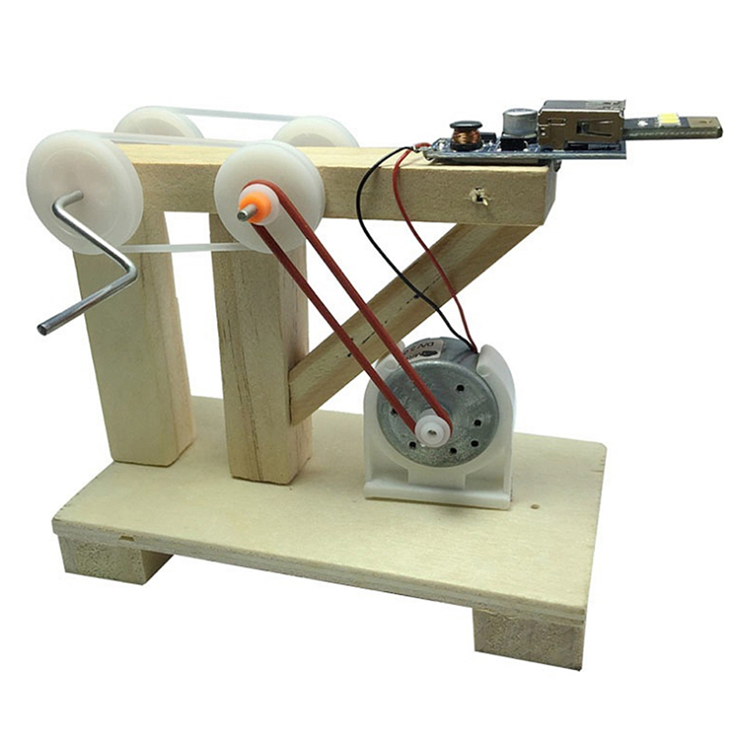1 Pc Diy Montieren Spielzeug Dynamo Modell Holz Erfindung Wissenschaft Physikalischen Experiment Kits Kinder Kreative Pädagogisches Spielzeug