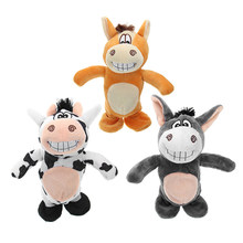 20cm Talking Donkey Sound Record Stuffed Animal Plush Cow Walking Electronic Moving Cow Soft Toy Gift