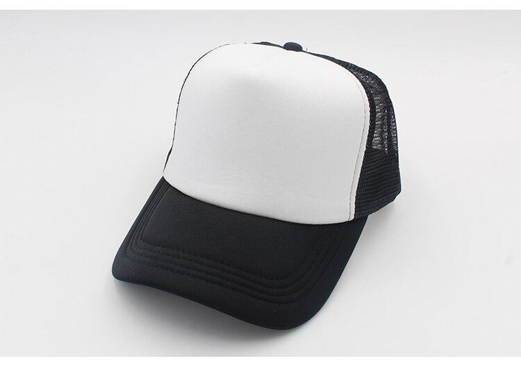black trucker hat blank trucker hat mesh black caps trucker hat men women (6)