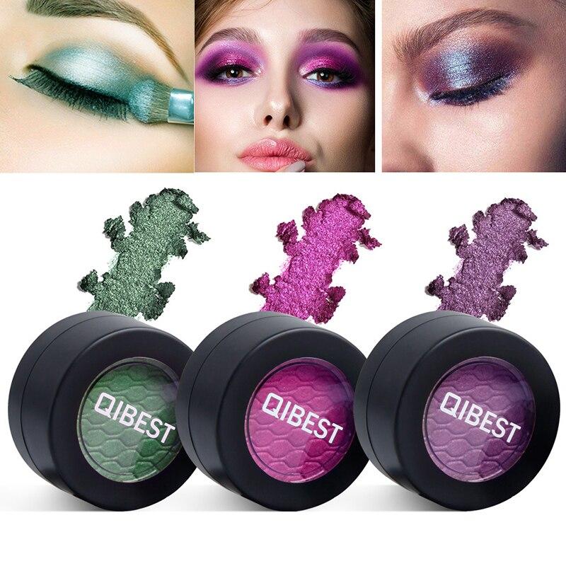 Eye Shadow Beauty & Health Romantic Glitter Eyeshadow Powder Shimmer Single Color Waterproof Smoky Green Blue Red Eyeshadow Makeup Easy To Wear Cosmetic Eyes Shadow Beneficial To Essential Medulla