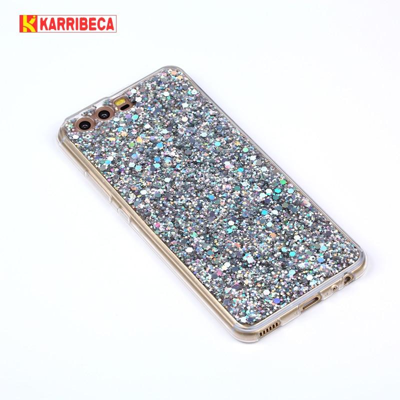 Fashion Glitter Bling Cover för Huawei P10 väska Candy Colourful - Reservdelar och tillbehör för mobiltelefoner - Foto 1