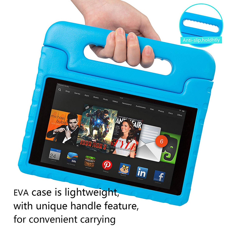Luxury Silicone Case For Amazon Kindle Fire Hd 8 2017 2016 Case Cover Shockproof Children Kids Handle Stand Protective Cover цена