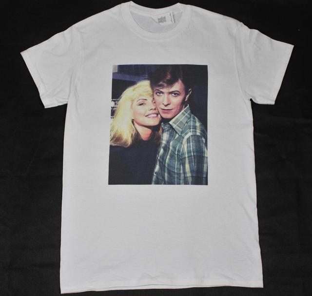 5eaa84c4 David Bowie & Debbie Harry White T-Shirt S-3XL vintage retro blondie rock n  roll Male Harajuku Top Fitness Brand Clothing