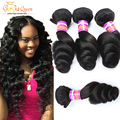 7a Brazilian Loose Wave Virgin Hair 4PCS/lot Brazilian Virgin Hair Mink Brazilian Hair Weave Bundles Brizilian Human Hair Weave