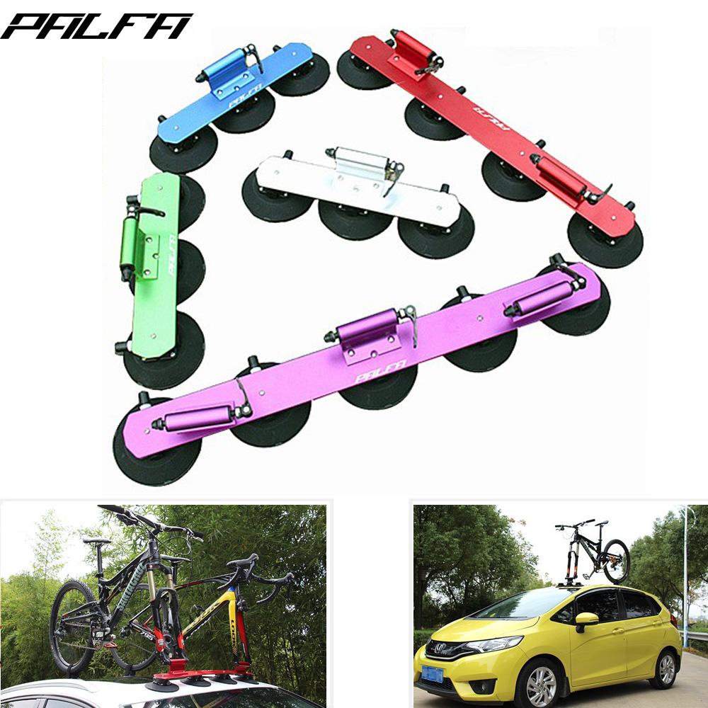 PALFA Bicycle Suction Roof-Top Bike Racks Bike Sustion Cup Roof Rack Cycle SUV Sucker Talon Car Racks Bicycle Accessories partol black car roof rack cross bars roof luggage carrier cargo boxes bike rack 45kg 100lbs for honda pilot 2013 2014 2015