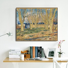 Blue Train by Vincent Van Gogh Poster Print Canvas Painting Calligraphy Wall Picture for Living Room Bedroom Home Decor