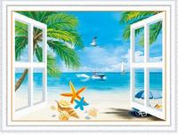 Newest Home Decoration Wall Stickers Decorated Summer Beach 5D DIY Diamond Painting Mosaic Cross Stitch