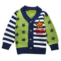 0-2 Age Infant Baby Boy Cardigan Sweater Autumn Winter Striped Letter Star Long Sleeve Fashion Hot Selling Sweaters Coat 3 Color