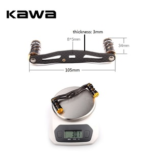 Image 5 - KAWA דיג סליל ידית סיבי פחמן עבור Baitcasting 105mm אורך חור גודל 8x5mm עובי 3mm חליפה עבור אבו ו Daiwa סליל