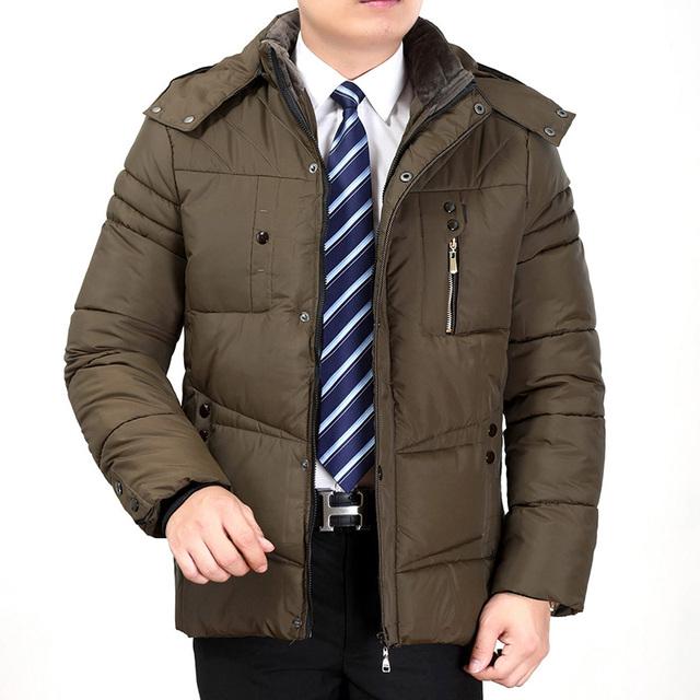 Novos homens de inverno casaco de algodão acolchoado parkas hoodies espessura jaqueta gola de pele fina plus size parkas casaco moda casual