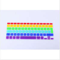 AZERTY French Euro Rainbow Keyboard Cover For Apple Macbook Air Pro Retina 13 15 17 Protective