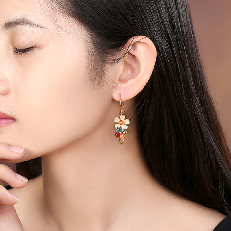 Earrings Jewelry alloy High Quality Handmade Jewelry Earring For Women Drop Flower Vintage Wedding Accessories