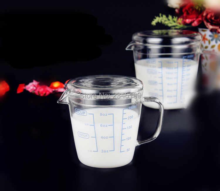 250ML500ML 5 шт. прозрачная стеклянная шейкер молочные мерные стаканчики для жидкости