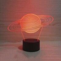 Bebé creativo sueño Luces de noche 3D USB Sistema Solar modelado lámpara de mesa visual abstracto planeta colorido accesorios mejores regalos