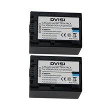 2 Pcs/lot 2.5Ah Batterie Pack pour Sony NP-FV30 NPFV30 NP-FV50 NPFV50 NP-FV70 NPFV70 NP-FV100 NPFV100 et Sony Handycam Caméscope