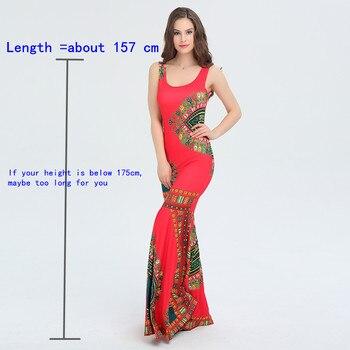 8bad917eee1 Maxi Sexy Party African Print Boho Style Sleeveless Dashiki Dresses ...