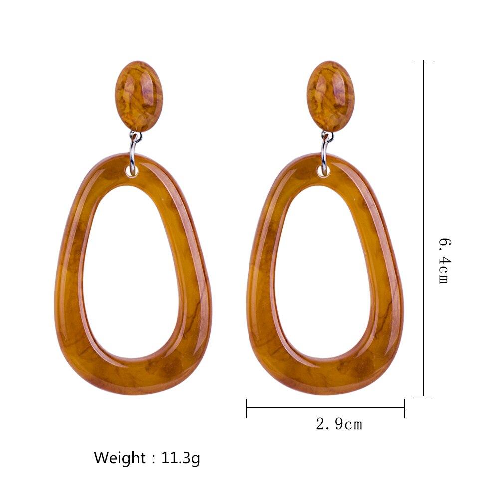 GuanLong Drop Shipping Fashion Acrylic Water Drop Earrings Jewelry Wholesale 2018 in Drop Earrings from Jewelry Accessories