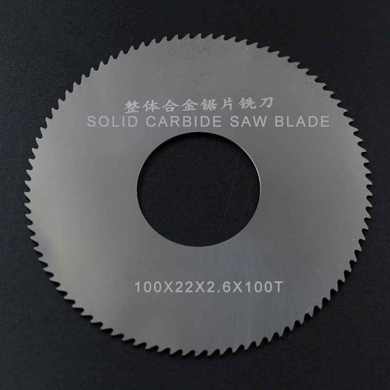 5pcs 100x22x2.6x100t Solid Carbide Circular Saw Blades Milling Cutter Tool