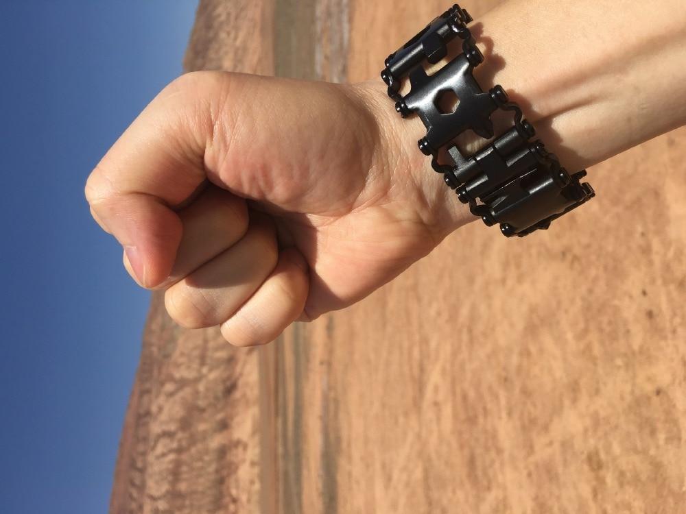 Survival Multi Tools Wearable 29 In 1 Stainless Steel Bracelet Strap Multi-function Screwdriver Outdoor Emergency Kits Multitool (19)