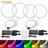 FEELDO 2X106mm 2X126mmCar CCFL Angel Eyes Light Halo Rings Kits Headlight For Toyota Corolla 01 04 DRL Car Styling White #HQ4844