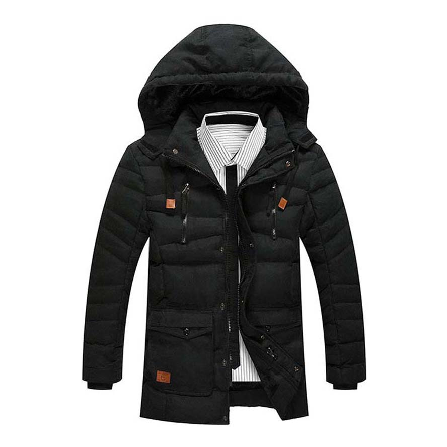 2017 high quality Winter jacket men fashion mens jackets cotton coat with fleece free shipping