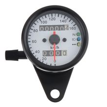 Motorcycle Speedometer 12V Metal Case Odometer with Night Light Guide for Universal Instrumentation new