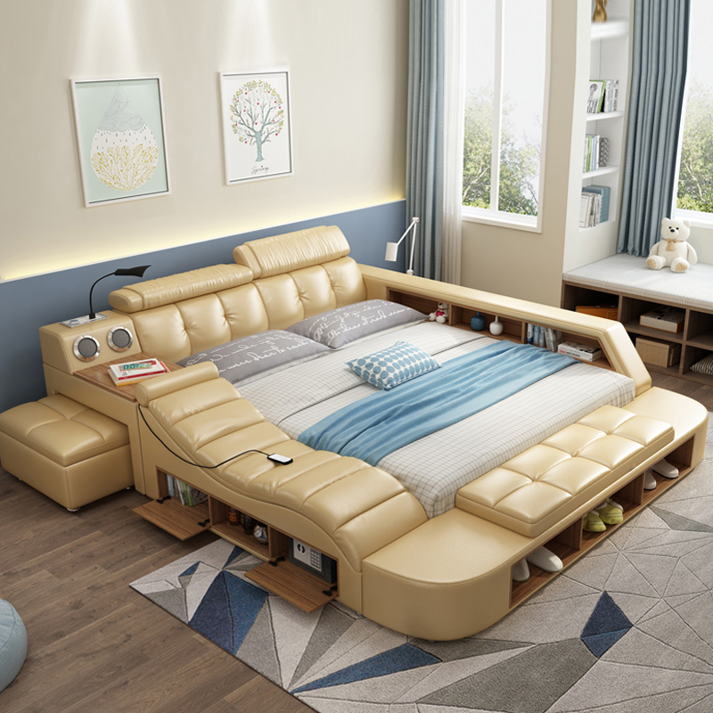 Us 18790 Fashion Design Modern Multifunctional Bed 5 Parts Upholstered Bed In Bedroom Sets From Furniture On Aliexpresscom Alibaba Group