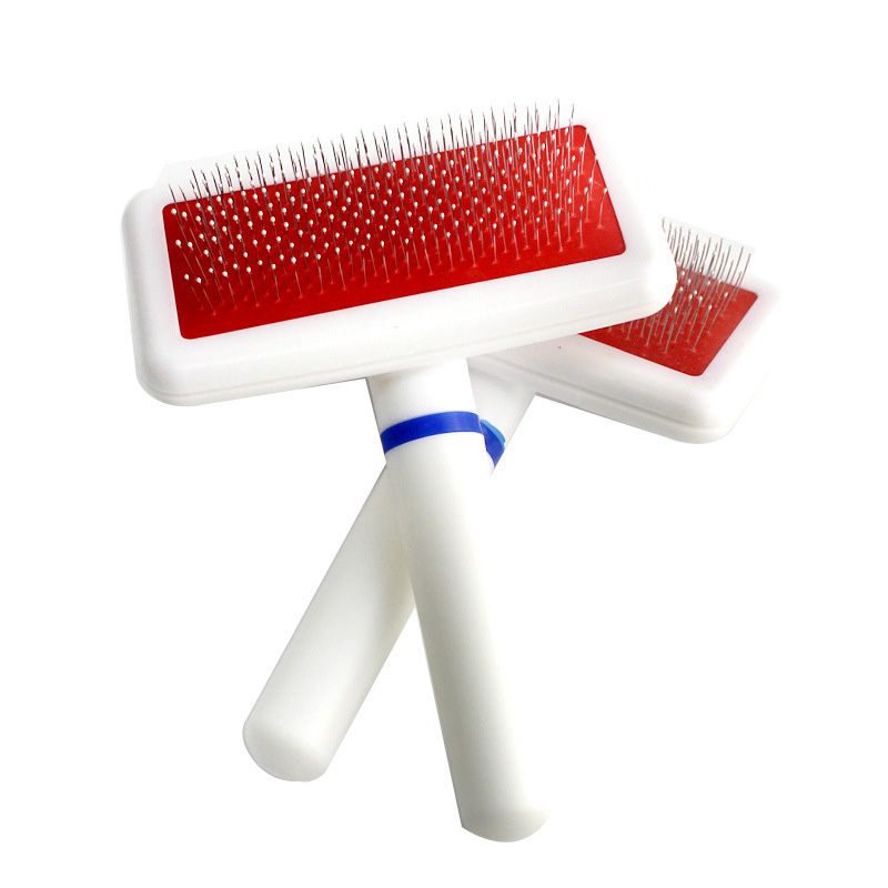 Cat Dog Hair Brush Comb Pet Shedding Grooming Multifunction Practical Stainless Steel Needle Comb Slicker Brush Pl0037