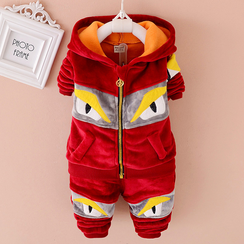 2015 New Winter Kids Boy Clothing Set Hoodies Jacket + trousers Baby Boys Clothes Set Toddler Boy Suit Winter Outfits