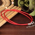 Wholesale Double Layer Woman Charm Bracelets Fashion Lucky Chinese Red Rope Chain Vintage Women Jewelry Bracelet LHS007