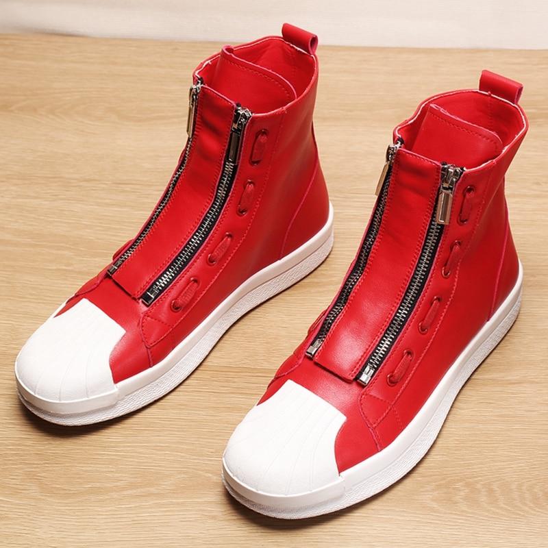 Stephoes Männer Mode Lässig Stiefeletten Luxus Frühling Herbst High Top Freizeit Schuhe Neue Ankunft Shell Kappe Turnschuhe Botas Hombre auf   1