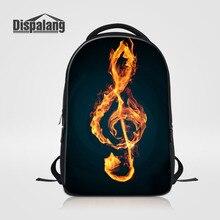 Dispalang Brand Art Backpack For Men Women Music Note Print School Bags for Teens Casual Laptop Bag Kids Shoulder Bag Mochila