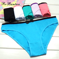 Rebantwa Lot 6 pcs Hot Sale Cotton Women Briefs Fashion Bow Panties Female Underwear Intimates Sexy Lingerie Factory Wholesale