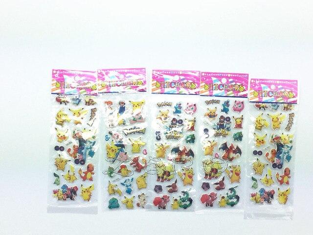 10 folhas pikachu pokemon go padrão crianças meninos festa de aniversário presente favores adesivos decorações do chuveiro do bebê