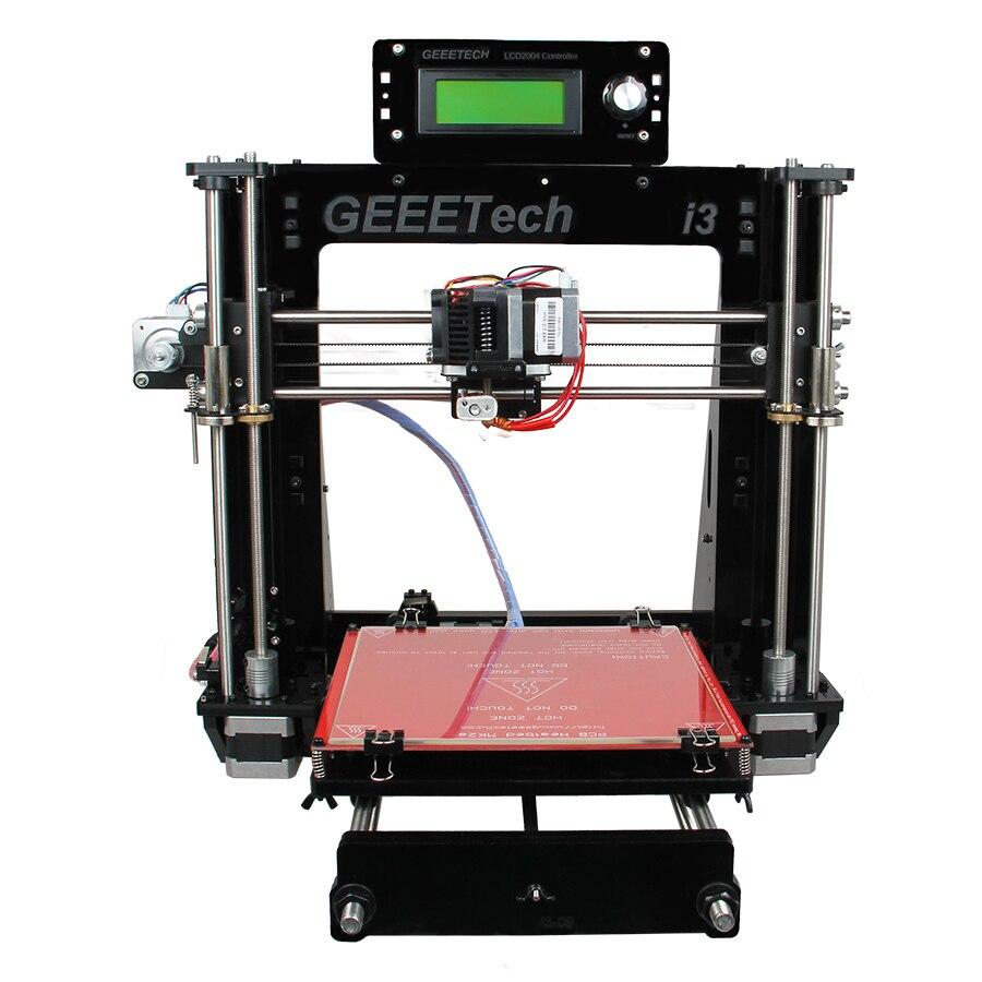 Geeetech Prusa i3 Pro B с открытым исходным кодом 3d принтеры акрил Рамки Высокая точность Impressora DIY Kit ЖК дисплей 2017 Лидер продаж машины