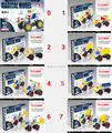 Iron Commander Metal Scale Model Metal Blocks 3D Puzzle Model Building Kits Vehicle metal building kits Toys Car  8 styles mixed