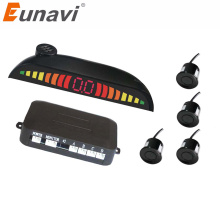 Eunavi 4 Sensors Buzzer 22mm Car Parking Sensor Kit Reverse Backup Radar Sound Alert Indicator Probe System 12V car ultrasonic parktronic parking sensor system parkmaster blind spot detection sound alert indicator probe auto reversing radar